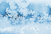 Winter rime achtergrond — Stockfoto