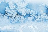 Zimní jinovatka pozadí — Stock fotografie