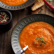 Carrot cream soup - Stock Photo