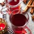 Glass of mulled wine — Stock Photo #14851799
