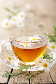 Tisane de fleurs de camomille — Photo