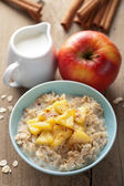 Cereal with caramelized apple — Stok fotoğraf