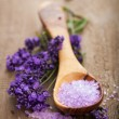 Foto de Stock  : Lavender salt for spa