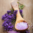 Lavender salt for spa - Stock Photo