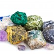 Collection of minerals isolated  — Stock Photo