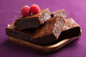 Brownies met framboos — Stockfoto