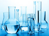 Chemical laboratory glassware — Stock Photo