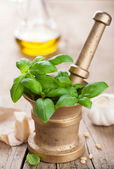 Ingredienti per la salsa di pesto — Foto Stock