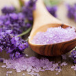 Lavender salt for spa — Stock Photo