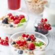 Royalty-Free Stock Photo: Healthy breakfast with yogurt and granola