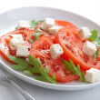 Stock Photo: Salad with beef tomatoes and feta