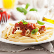 Italian pasta with tomato sauce — Stock Photo
