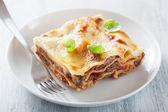 Lasagna bolognese — Stock Photo