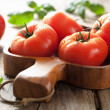 Fresh tomatoes in bowl — Stock Photo #32799437