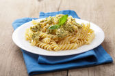 Pasta with olive tapenade — Stock Photo