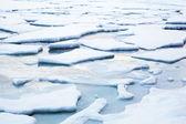 Ice flow winter landscape — Stock Photo