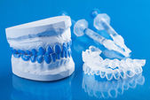 Individual set for teeth whitening — Stock Photo