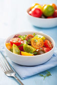 Healthy salad with colorful tomatoes  — Stock Photo