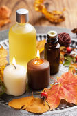 Autumn spa and aromatherapy — Stock Photo