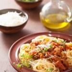 Italian pasta spaghetti bolognese — Stock Photo