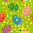 Stock Vector: Easter seamless background