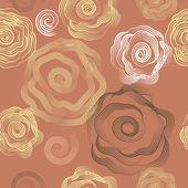 花とのシームレスな背景 — ストックベクタ