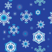 Seamless backgrounds with snowflakes — Vector de stock
