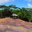 Chamarel seven coloured earths. panorama — Stock Photo