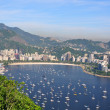 Botafogo beach viewed from Suggar Loaf - ストック写真