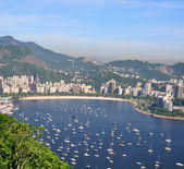 Botafogo beach viewed from Suggar Loaf — Stock Photo