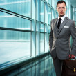 Businessman inside modern building — Stock Photo #12454549