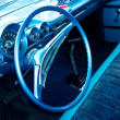 Retro car interior — Stock Photo