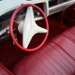 Retro car red and white interior - Stock Photo