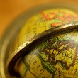Close-up of a vintage globe - Stock Photo