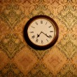 Vintage clock on a wall — Foto Stock