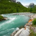 Rio rápido em um montanhas — Foto Stock