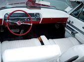 Retro car classic interior — Stock Photo