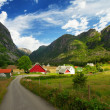 Royalty-Free Stock Photo: Village in a norway mountains