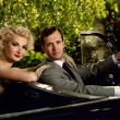 Retro couple in convertible — Stock Photo #12467877