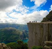 At Preikestolen, Norway — Stock Photo