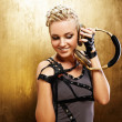 Stock Photo: Steam punk girl with headphones