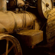 Antique steam train - Stock Photo