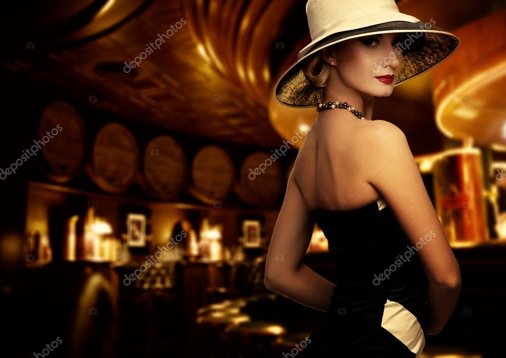 Woman in luxury club interior  Stock Photo #12742123