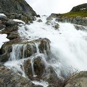 Waterfall in scandinavian mountains — Stock Photo