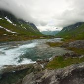 River in scandinavian landscape — Stock Photo