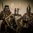 Stockfoto: Three medieval knights