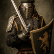 Medieval knight with sword — Stock Photo #13489628