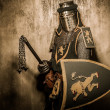 Medieval knight with weapon — Stockfoto