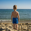 Baby boy on a beach — Stock Photo #13884388
