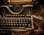 Old rusty typewriter — Stockfoto